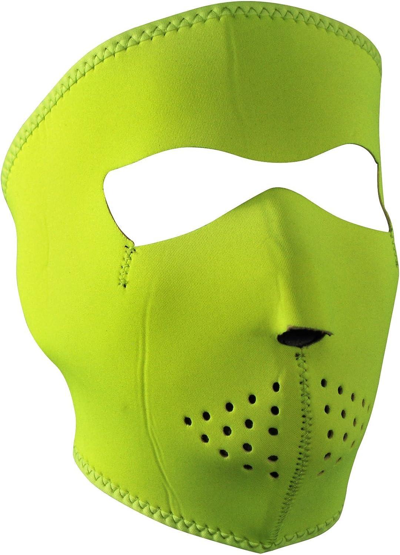 Zan Half-Face Neoprene Mask Hi-Vis Lime WNFM142LH