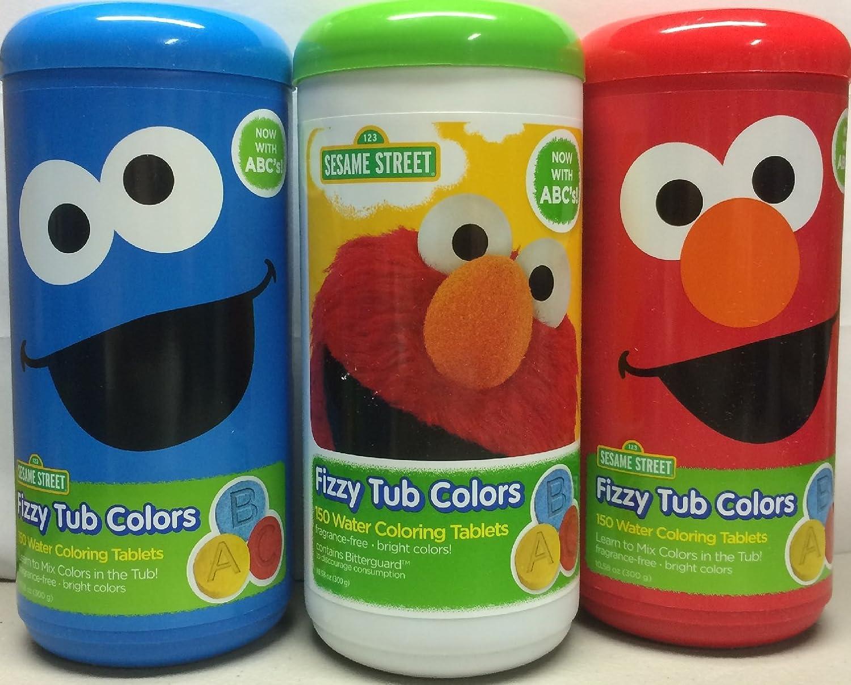 Amazon.com: Sesame Street Fizzy Tub Color Tablets - 10.58 oz ...