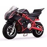 4-Stroke 40CC Kids Gas Pocket Bike (EPA Registered, NO CA sales), Red/Black