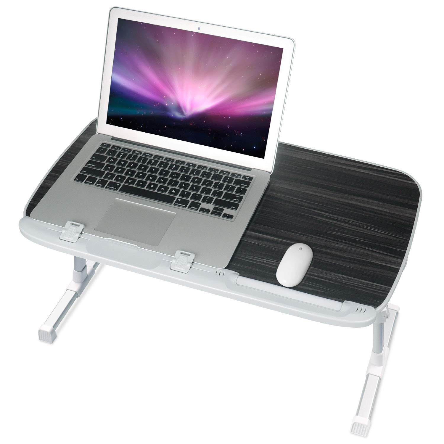 Laptop Desk for Bed, NEARPOW Larger Size Bed Table Laptop Bed Tray, Height and Angle Adjustable Computer Standing Desk Lap Desk with Foldable Legs for Reading and Writing in Bed, Sofa, Couch, Floor