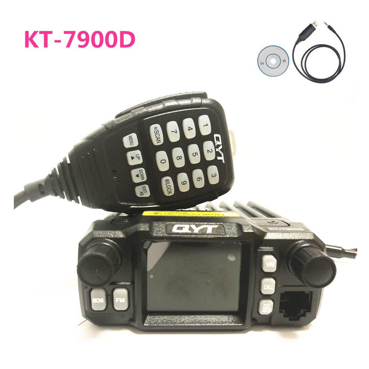 QYT KT-7900D Quad Band Mobile Radio 136-174/220-270/350-390/400-480mhz Quad Standby Amateur (HAM) Radio