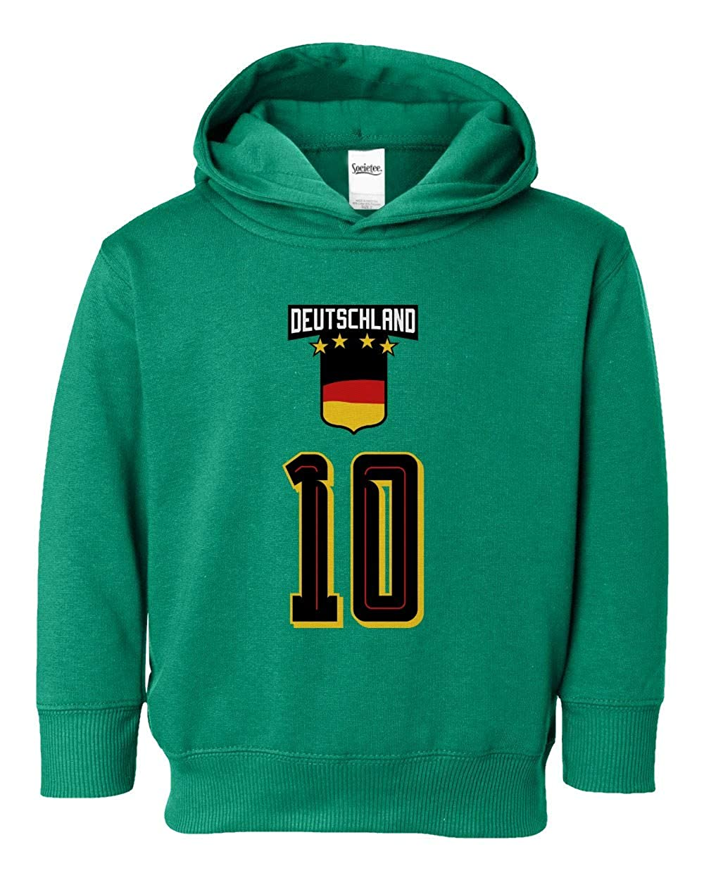 Societee Germany Shield /& Number Cool Girls Boys Toddler Hooded Sweatshirt