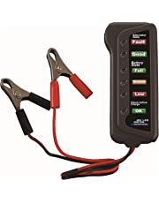CARTMAN 12V Car Battery & Alternator Tester - Test Battery Condition & Alternator Charging (LED Indication)