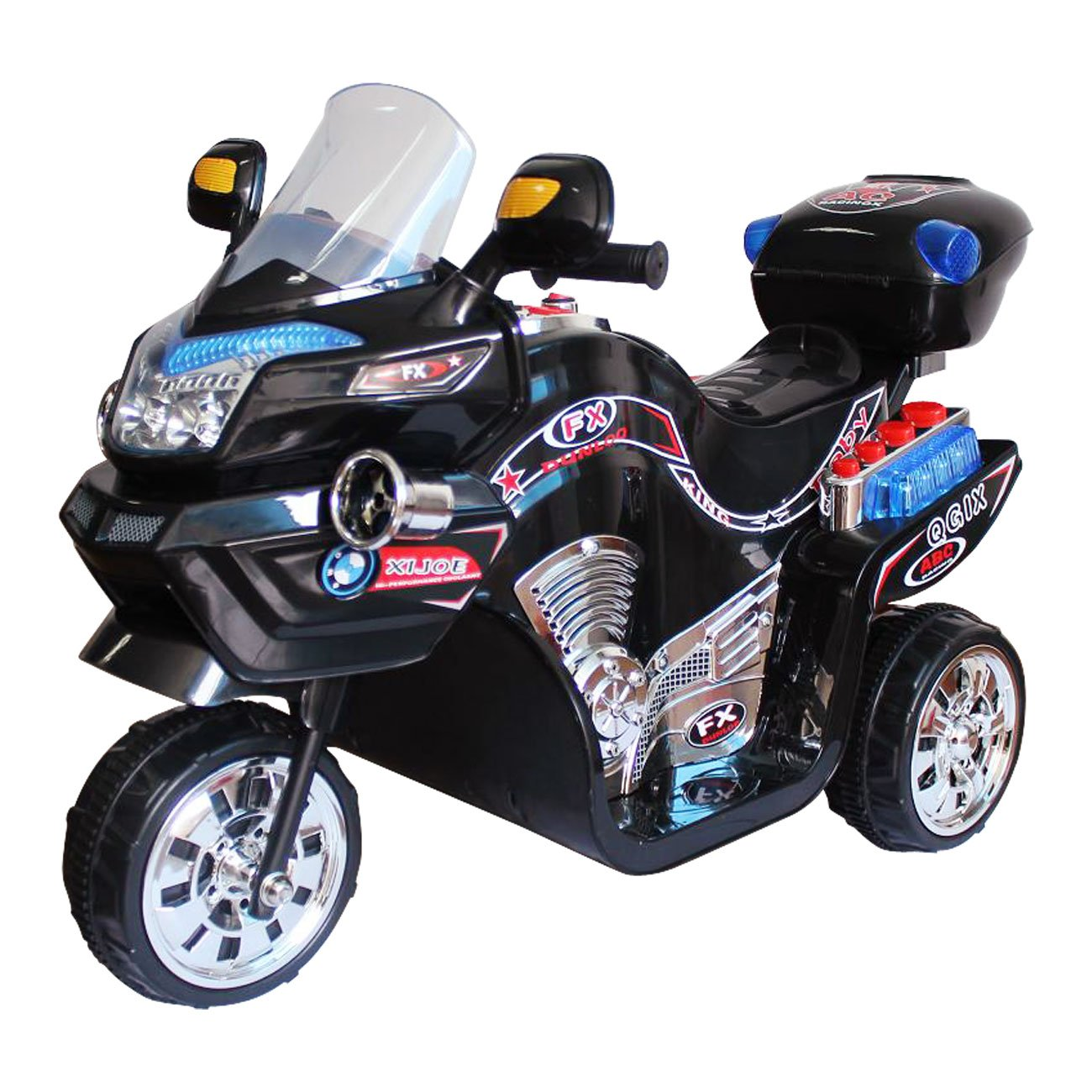 Amazon.com: Ride on Toy, 3 Wheel Motorcycle for Kids, Battery ...