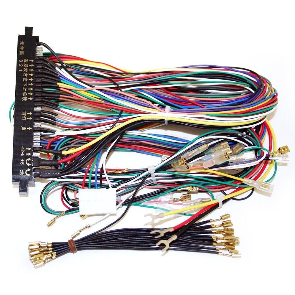 71sebacVsYL._SL1001_ amazon com winit jamma board standard cabinet wiring harness loom jamma wiring harness at gsmx.co