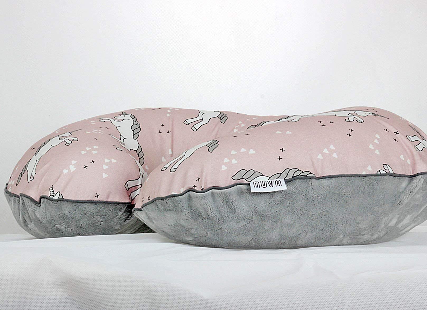 Unicorn Nursing Pillow Cover Handmade Cotton Minky Cover With Zipper