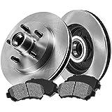 CRK13231 FRONT 261 mm Premium OE 5 Lug [2] Brake Disc Rotors + [4] Metallic Brake Pads