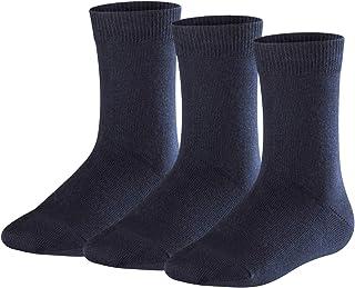 FALKE Kids Family 3-Pack socks - 3  pairs, UK sizes 3 (kid) - 8 (EU 19-42), multiple colours, cotton mix - Year round cotton quality, reinforced stress zones for optimum durability