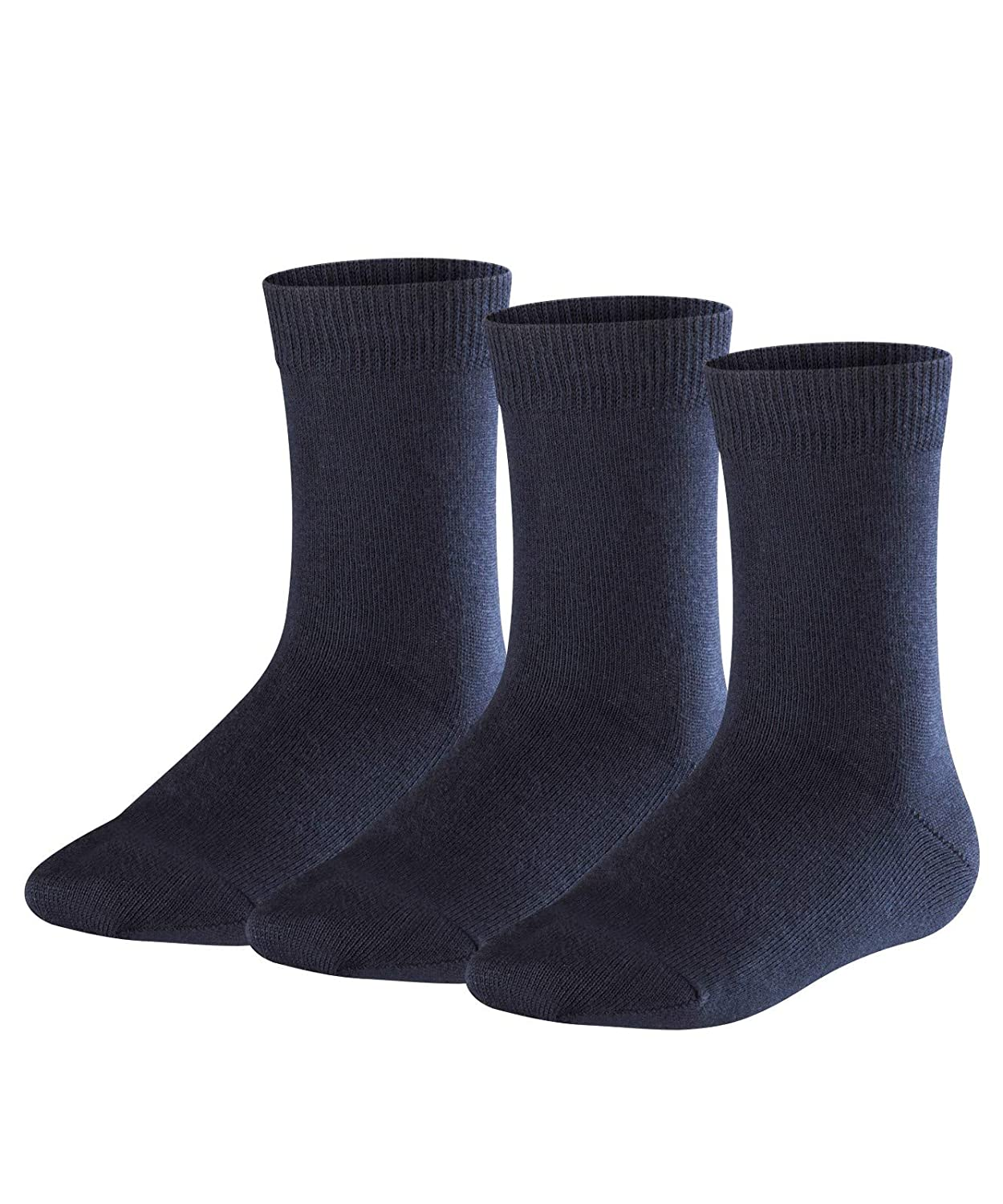 cotton mix kid EU 19-42 reinforced stress zones for optimum durability UK sizes 3 3  pairs - 8 FALKE Kids Family 3-Pack socks multiple colours Year round cotton quality