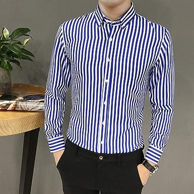 VPASS Hombre Camisas,Manga Larga Camisas Formales Casual ...