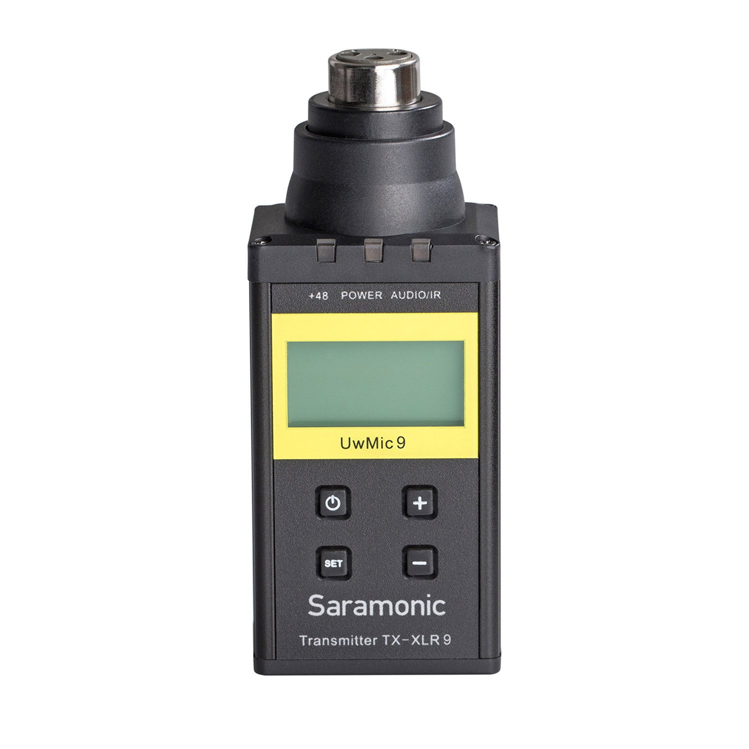 Saramonic UwMic9-TX-XLR9 Plug-on Transmitter with Phantom Power LCD Display for UwMic9 Microphone system XLR microphone