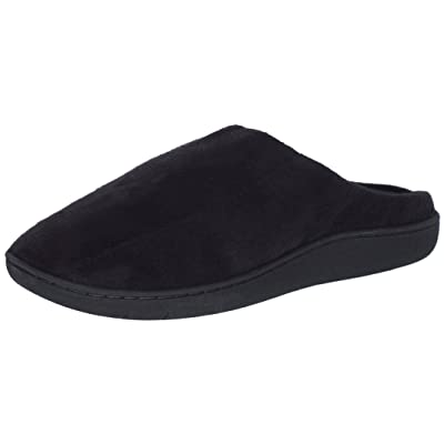 TruFit Men\'s Memory Foam Comfort Slippers, Black, Medium/7-8 D(M) US' | Slippers