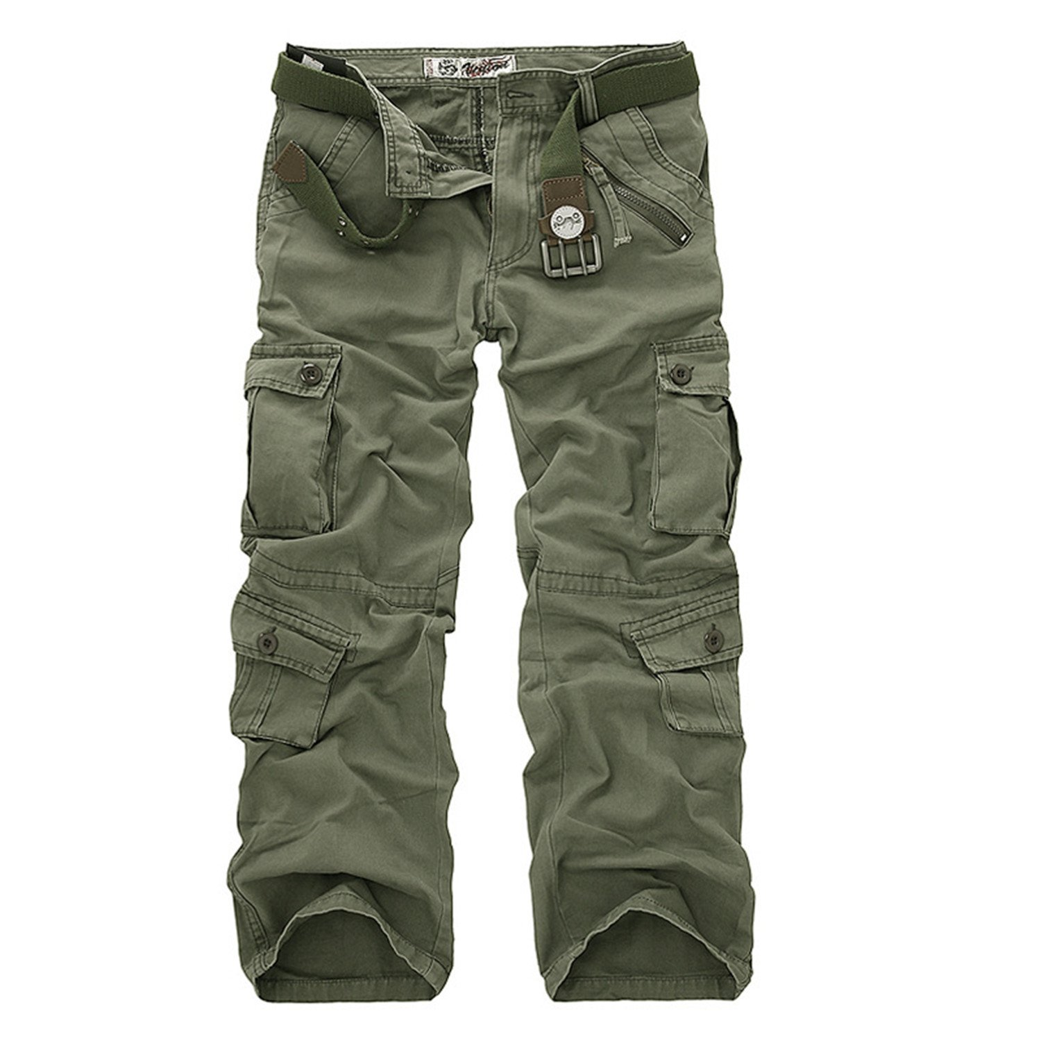 8b2430e6e80e Grass Green Ivan Johns Pants Multi-Pocket Military Military Military Army  Camouflage Pants Men Casual Cotton Straight Water Washed 40 a8cd21