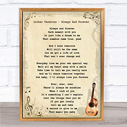 Luther Vandross – Guitarra con cita de letras de la canción de ...