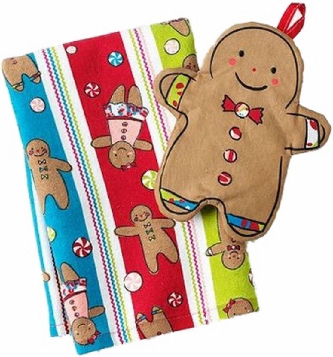 Gingerbread Man Oh Snap Pot Holder set of 2