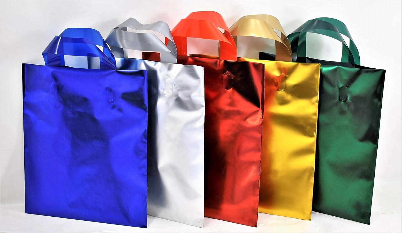 color turquesa 25x30 25 pz bolsos satinadas manija Suave para caja de regalo y para diferentes tama/ños y colores