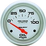 Auto Meter 4427 Ultra-Lite Electric Oil Pressure Gauge, 2.625 in.