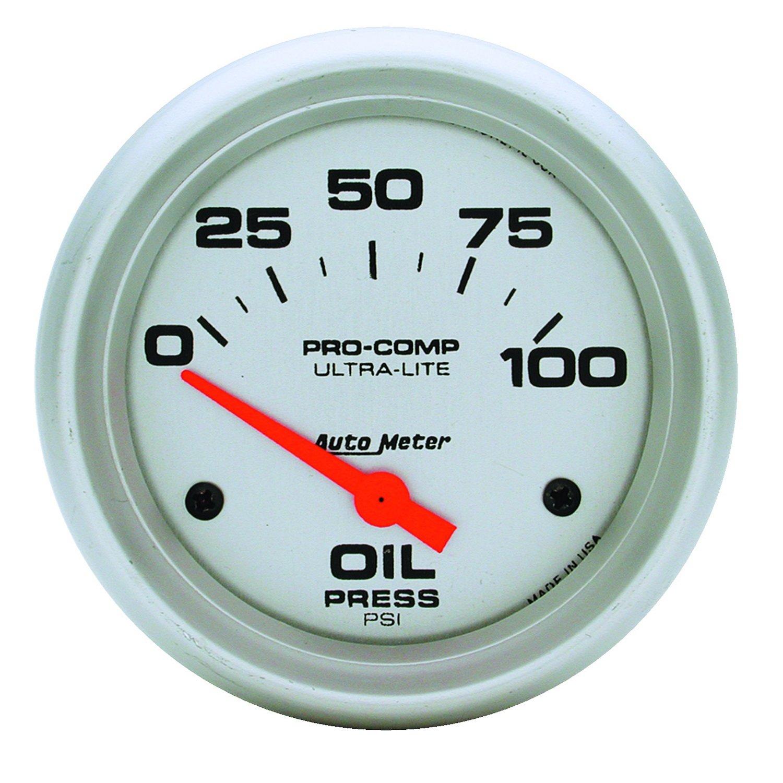 Auto Meter 4427 Ultra-Lite Electric Oil Pressure Gauge by AUTO METER