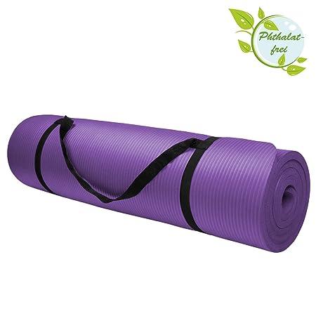 BB Sport Esterilla colchoneta de yoga 200 cm x 80 cm x 1.5 cm para fitness deportiva pilates gimnasia ejercicio, Color:Vivid Violet