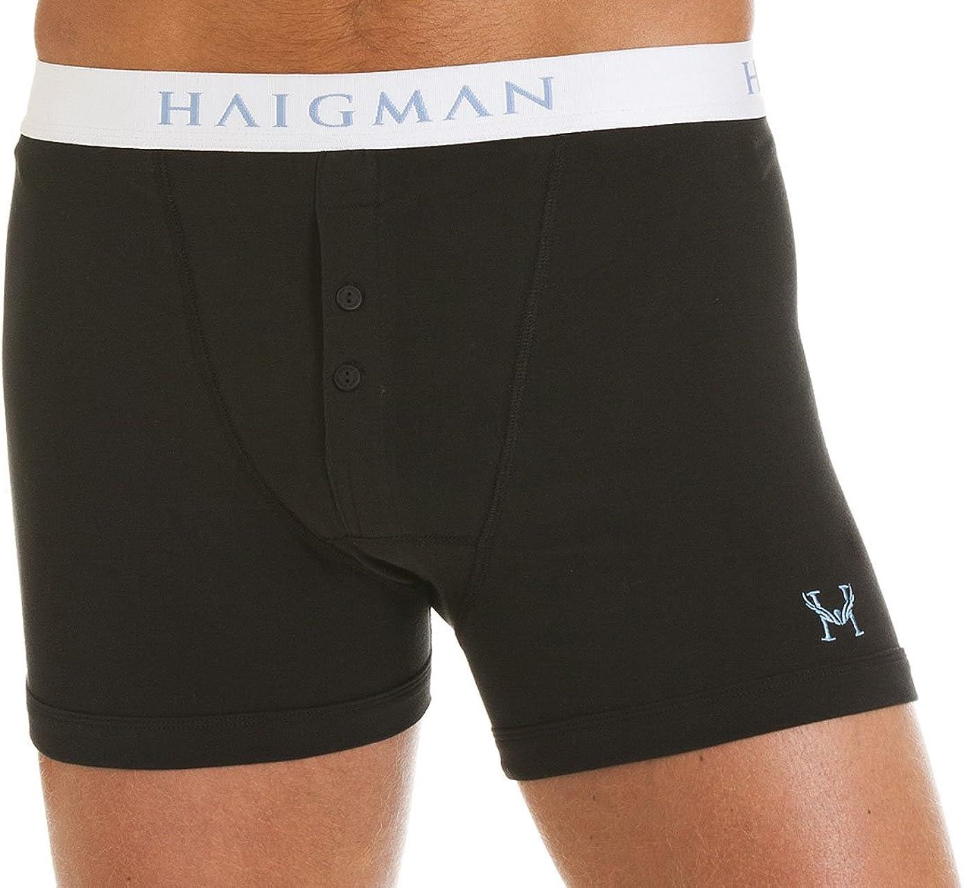 Haigman 2 Pack Mens Boxers Underwear Cotton Briefs Boxers Flexible Trunks