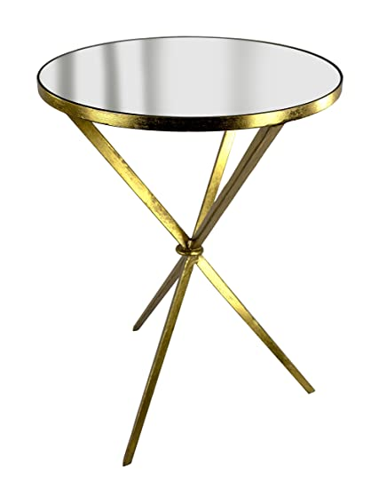 Sagebrook Home FM10378 01 Tripod Accent Table, Antique Gold Metal, 18 X 18