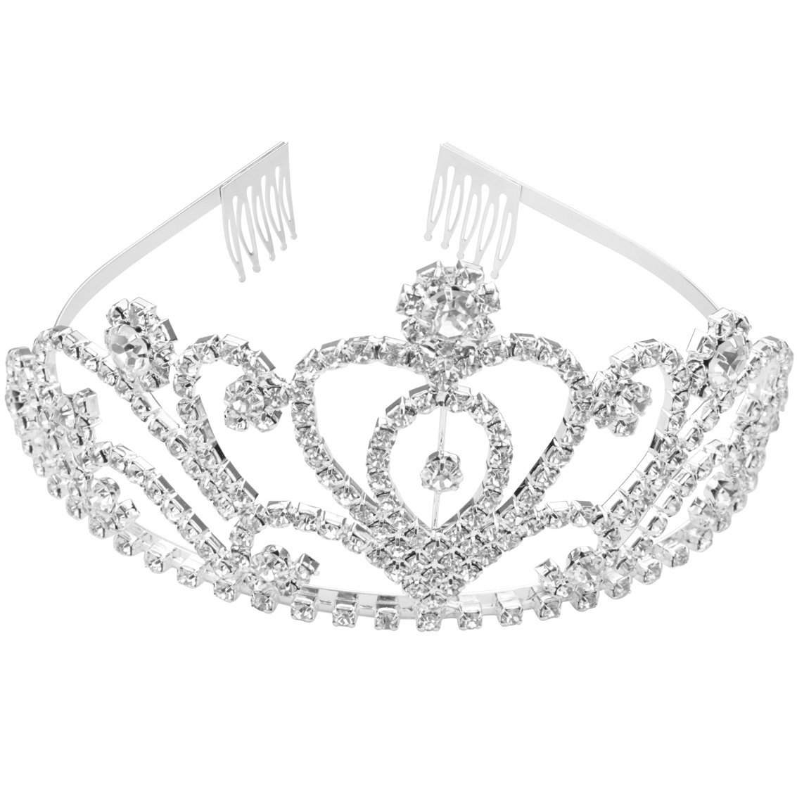 SUMERSHA Wedding Tiara with Comb Bridal Shining Rhinestones Crystal Headband Pageant Princess Bridal Prom Decoration Party Wear