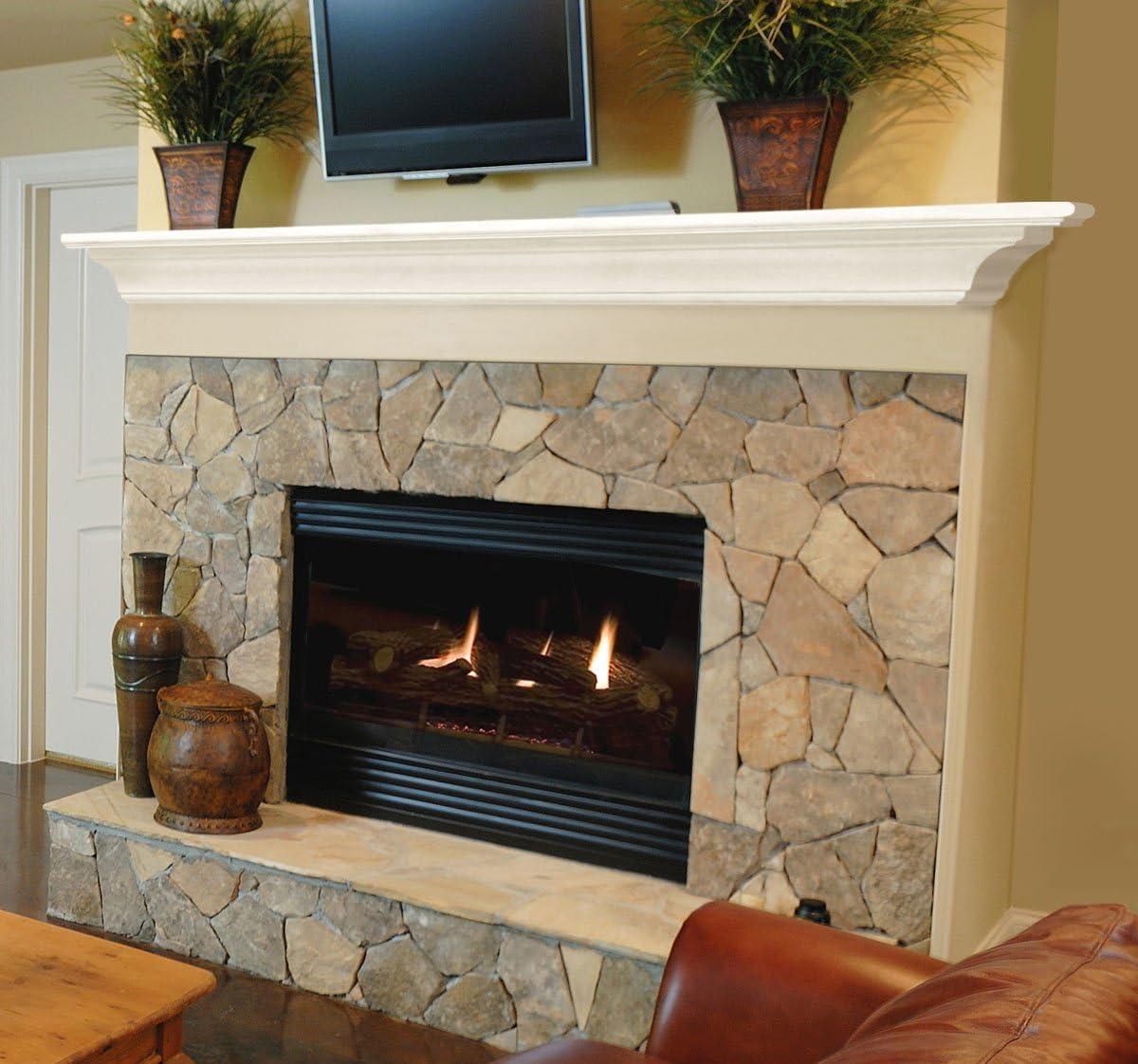 Pearl Mantels 618-72 Crestwood Mantel Shelf, 72-Inch, White