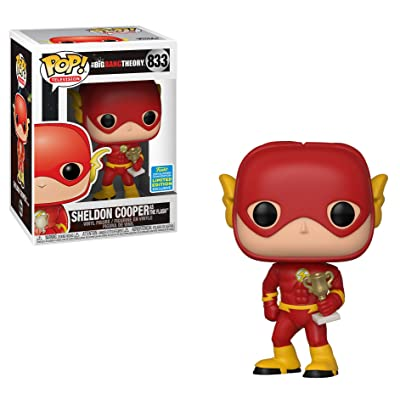 Funko POP TV: Big Bang Theory - Sheldon as Flash (Justice League Halloween) - Summer Convention Exclusive: Toys & Games