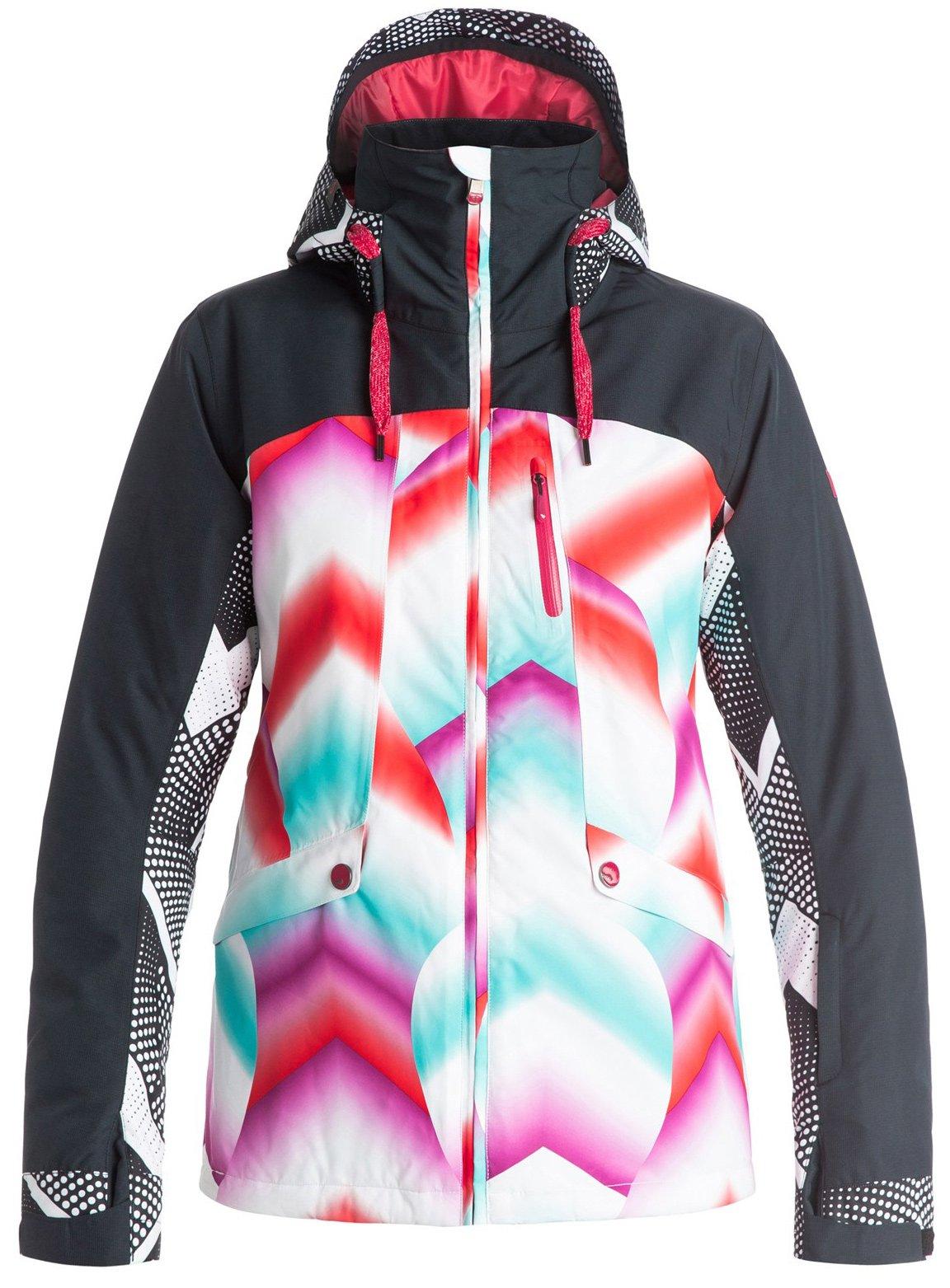 Roxy SNOW Junior's Wildlife Printed Tailored Fit Snow Jacket, Pop Snow Ocean Spray, S