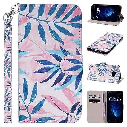Funda Galaxy S7 Edge, Amcor Love Carcasa Libro de Cuero con ...