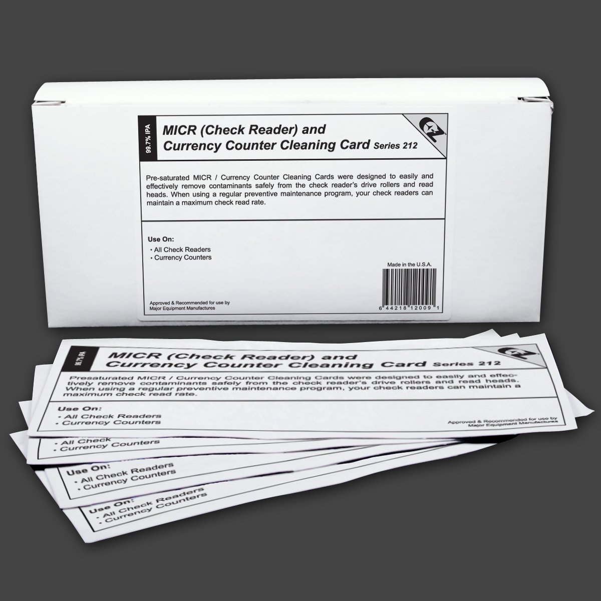 Waffletechnology 4K2-MICRB25 MICR/Check Reader/Currency Counter Cleaning Cards (100 Cards)