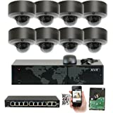 GW Security 5MP (2592x1920p) 8Ch NVR Home Network Security Camera System - 8 x HD 1920p 2.8~12mm Varifocal Zoom Weatherproof Dome PoE IP Camera - 5 Megapixel (3,000,000 more pixels than 1080P)