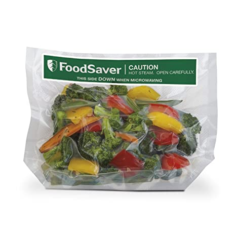FoodSaver 1-Quart Freeze 'n Steam Microwavable Single-Cooking Bags, 16 Count