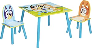 Bluey Furniture - Includes Table and 2 Chairs - Perfect for Arts & Crafts, Multicolor (90824)