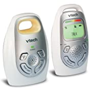 VTech DM223 Audio Baby Monitor with up to 1,000 ft of Range, Vibrating Sound-Alert, Talk-back Intercom, Digitized Transmission & Belt Clip