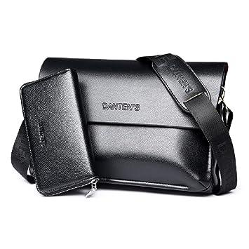 4c9491414af Kamay s Men s Shoulder Bag Message Briefcase Cow Split Leather for the  Office Messenger to Hold for