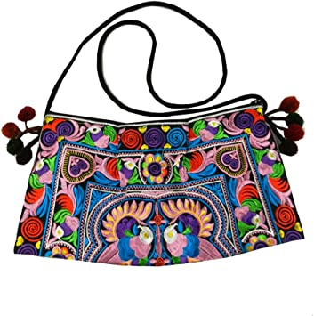 BTP! Hmong Bag Swingpack Hill Tribe Ethnic Embroidered Sling Crossbody Hippie Boho Hobo Multicolor HMSP3