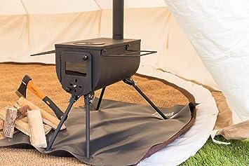 Bushcraft Woodsman portátil diseño de estufa al aire libre Camping Glamping: Amazon.es: Deportes y aire libre
