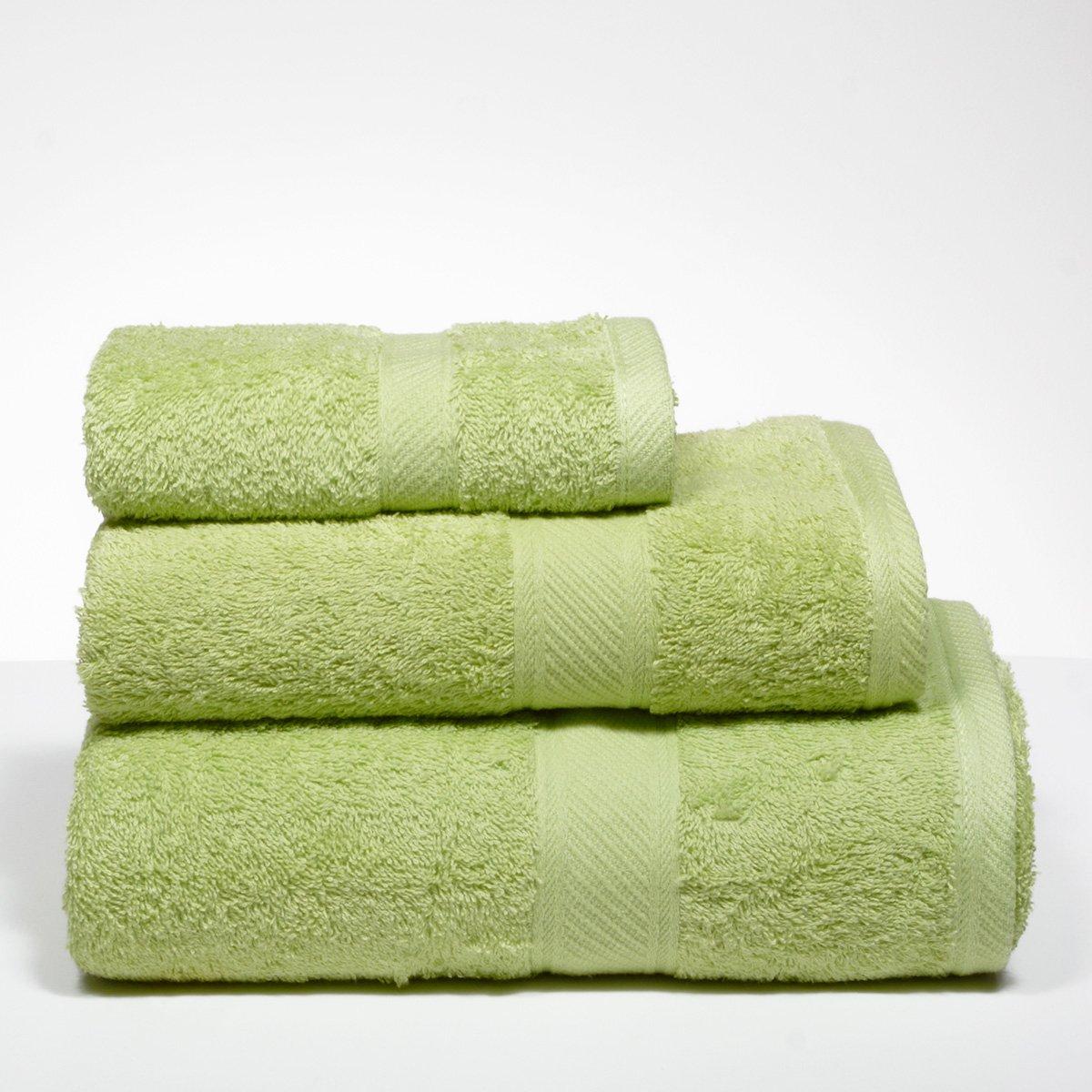 Sancarlos - Juegos de Toallas Lisos yanai Verde - 5 Piezas: 2 tocador, 2 Lavabo, 1 sábana baño - 3 Piezas: 1 tocador, 1 Lavabo, 1 Ducha - 100% algodón: ...