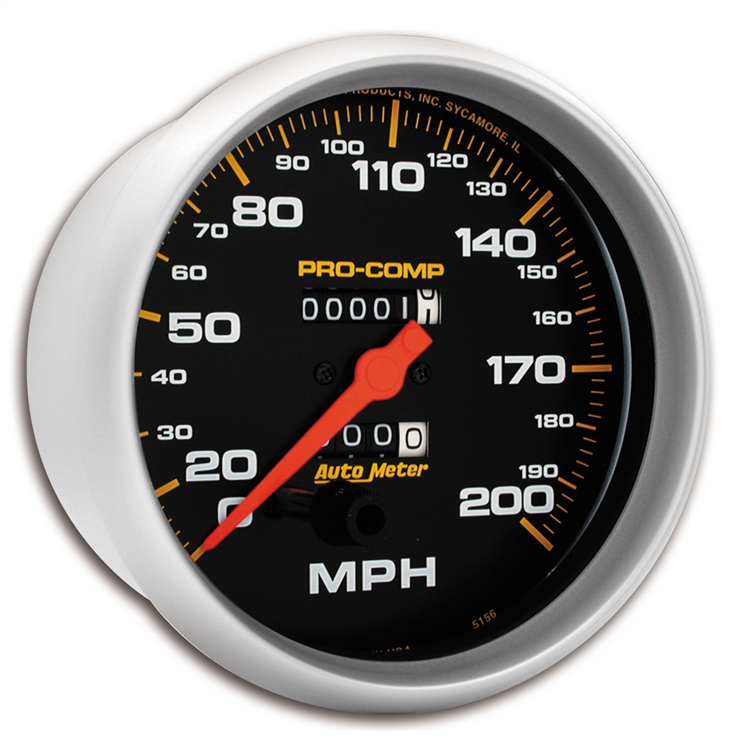 AUTO METER 5156 Pro-Comp Mechanical in-Dash Speedometer by AUTO METER