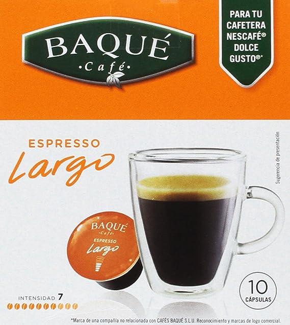 Cafés Baqué Cápsulas Compatibles Dolce Gusto Largo - 70 gr - [Pack ...