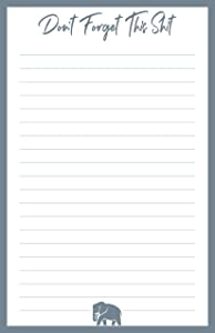 Don't Forget This Shit Note Pad - With Magnet | Grocery List, To-Do List, Honey Do List, Funny Gift Idea | Large 8.5 x 5.5 inches (50 Sheets)