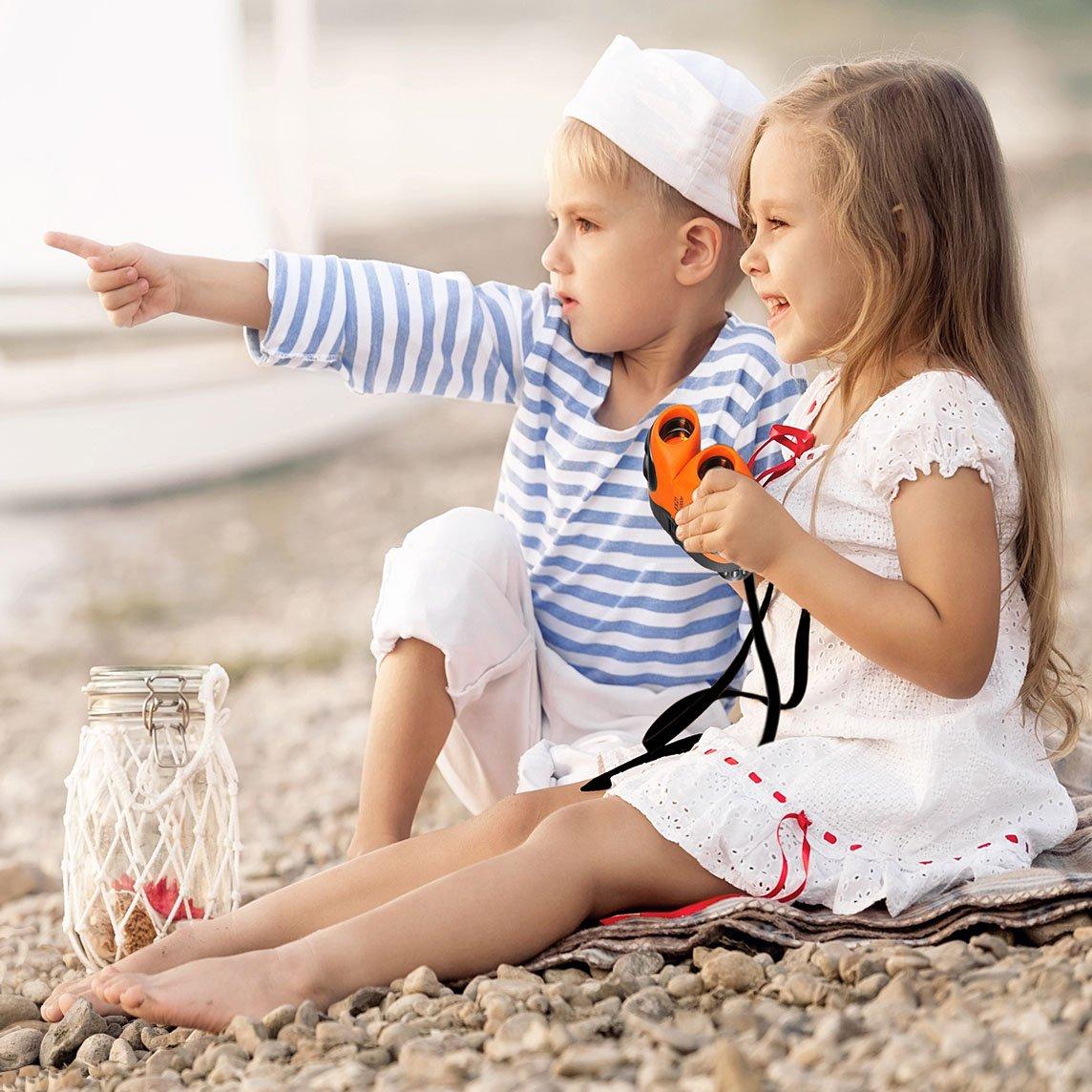 yyhappy childhood 8X21 Jumelles Grand Angle pour Enfants pour Les Enfants