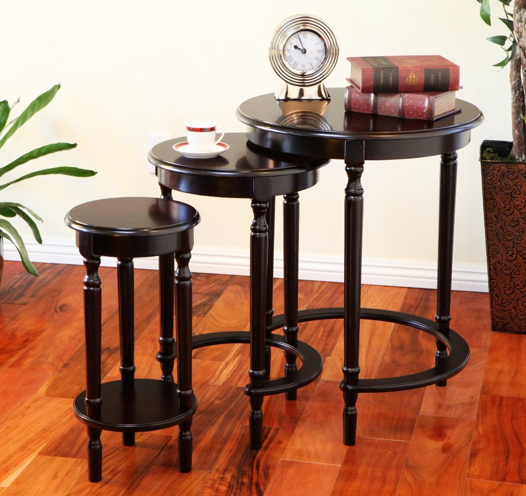 Cherry Nesting Tables Images Bar Height Dining Table Set