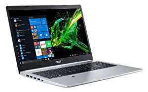 "Acer Aspire 5 Slim Laptop, 15.6"" Full HD IPS Display, 8th Gen Intel Core i5-8265U, 8GB DDR4, 256GB PCIe NVMe SSD, Backlit Keyboard, Fingerprint Reader, Windows 10 Home, A515-54-51DJ"