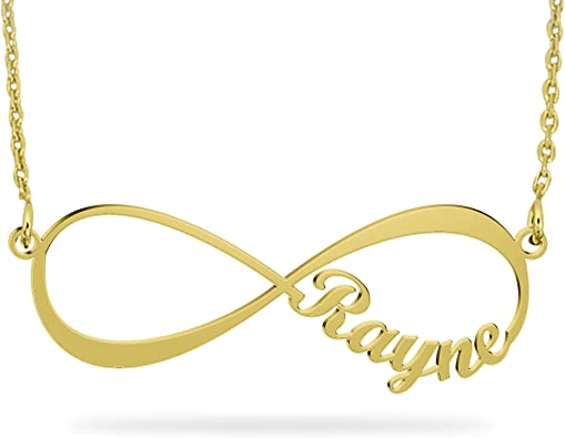 14K Gold Yellow or White Infinity Name Necklace initial personalized gift Necklace custom personalized engraved
