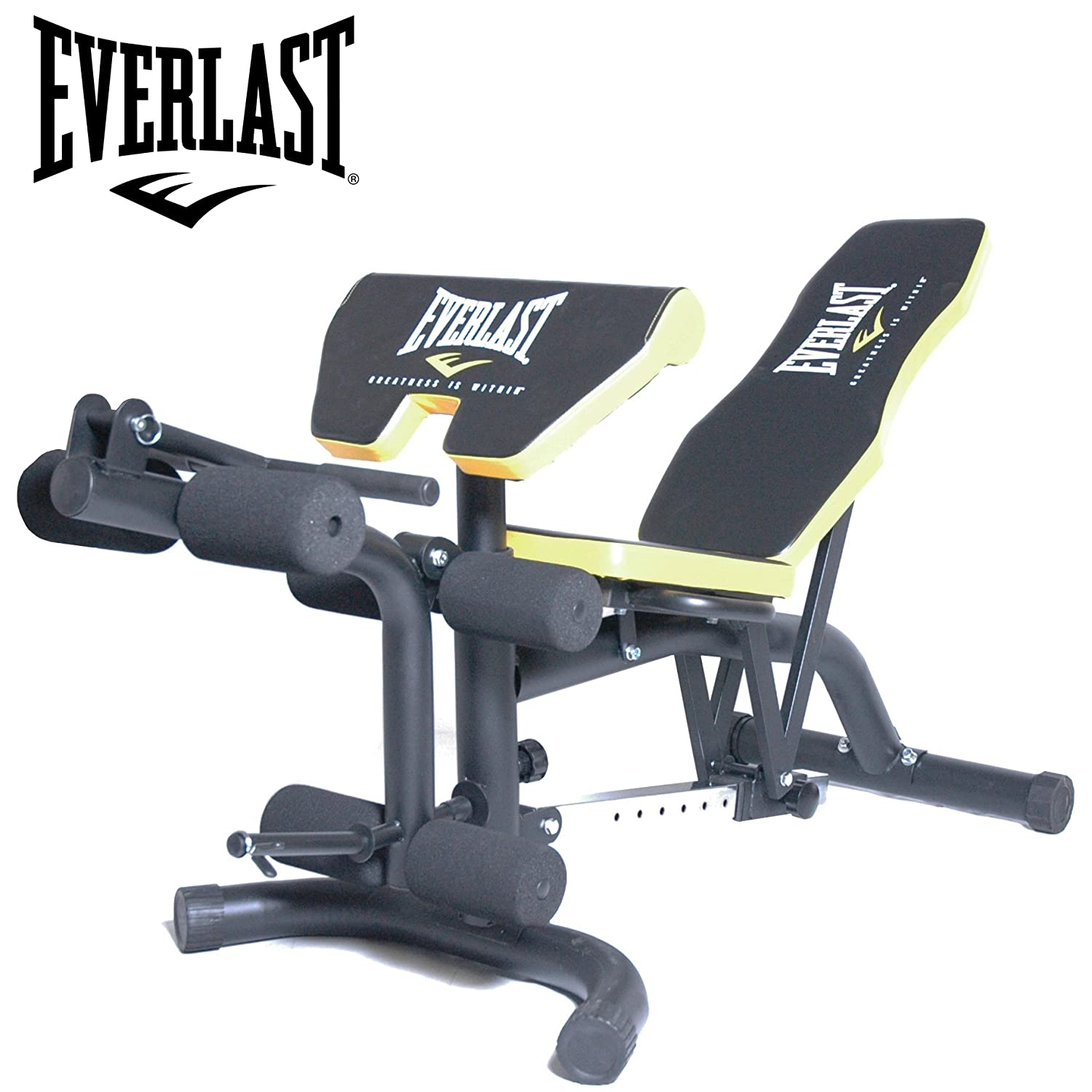 Everlast Olympic Weight Bench With Leg Extension & Preacher Pad:  Amazon.co.uk: Sports & Outdoors