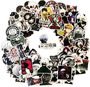 100PCS Tokyo Ghoul Stickers,Anime Tokyo Ghoul Stickers for Laptop Phone Water Bottle Luggage Car Motorcycle Bicycle,DIY Decoration for Kids and Adults.
