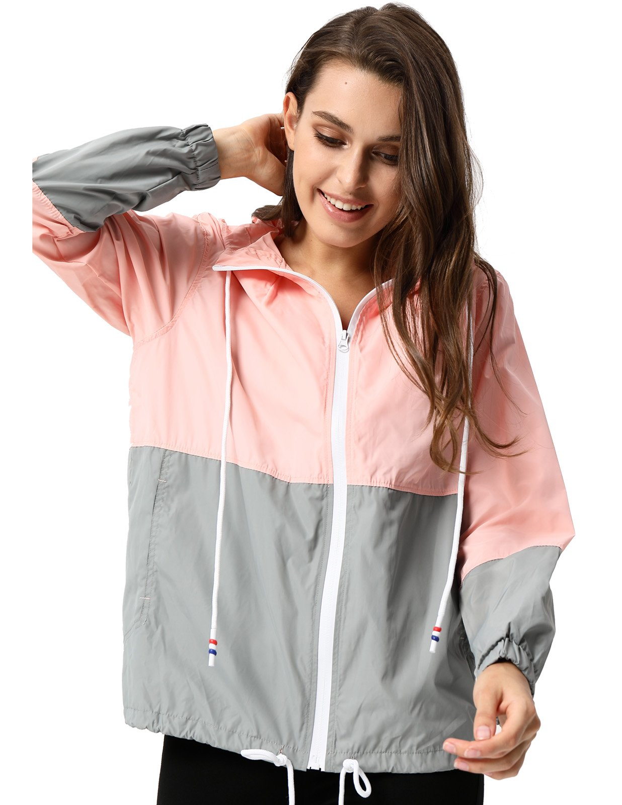 JACK SMITH Durable Girls Research Jacket Softshell Skin Coat (XL,Pink+Gray 005)