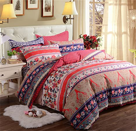 Auvoau stile Bohemien biancheria da letto set Boemia boho set ...